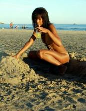 Uhmm.... nothing like a marg on the beach while makin a sand casle!!! Lol
