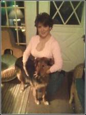 Me and my dog at home Buck...photo taken back in Pennsylvania where Im from