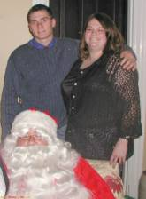 My godson and I with santa, this year.