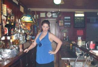 me at work.....I love bartending!!