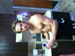 SugarBaby-Male Making food for my muscles.  Ljohn24024024 Athletic